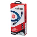 Walkntalk - 3m Lightning Charge and Sync Cable - Blue - Packshot 1