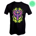Dungeons & Dragons - Blacklight Dragon Glow in The Dark T-Shirt - Packshot 1