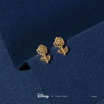 Disney - Beauty and the Beast - Rose Short Story Gold Stud Earring - Packshot 2