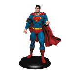 "DC Comics - Superman Classic 8"" Icon Heroes Statue - Packshot 1"