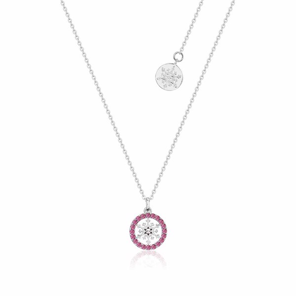Disney - Frozen 2 Disney Couture Snowflake October Pink Tourmaline Birthstone Necklace - Packshot 1
