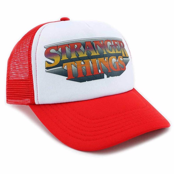 Stranger Things - Logo Red & White Mesh Snapback Cap - Packshot 1