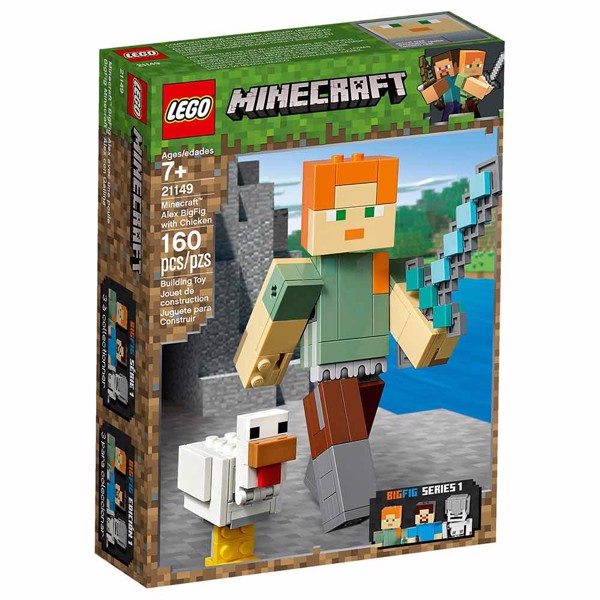 Minecraft - LEGO Alex BigFig with Chicken - Packshot 5