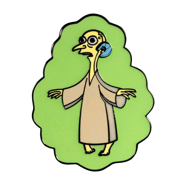Simpsons - Mr Burns Alien Glow in the Dark Enamel Pin - Packshot 1