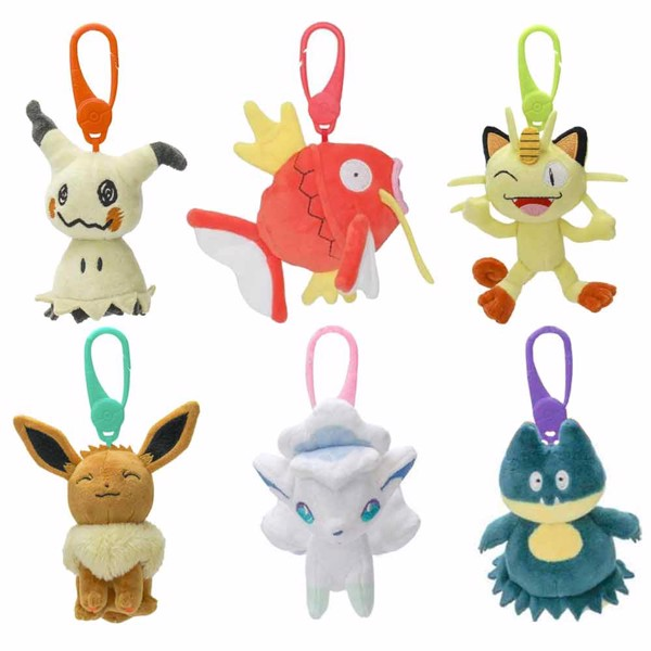 Pokemon - Clip-on Plush Keychain (Assorted) - Packshot 1