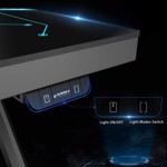 Eureka Ergonomic Z1G-PG1 Gaming Desk With RGB Lights - Glass Desktop - Packshot 5