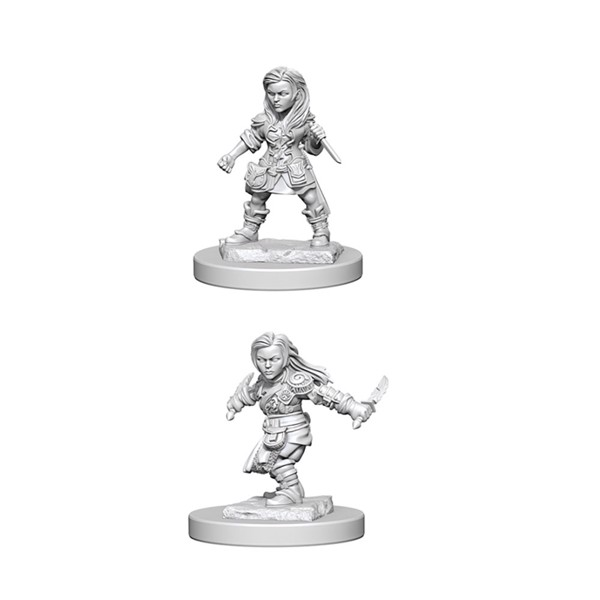 Dungeons & Dragons - Nolzur's Marvelous Miniatures - Halfling Female Rogue - Packshot 1