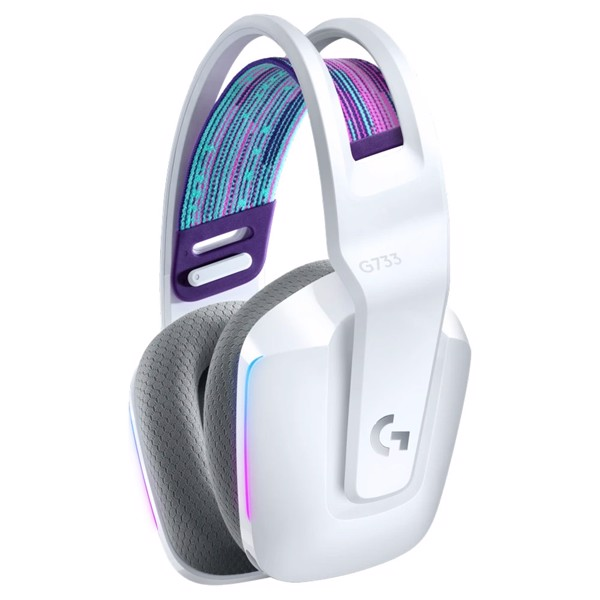 Logitech G733 Lightspeed Wireless RGB Gaming Headset - White - Packshot 2