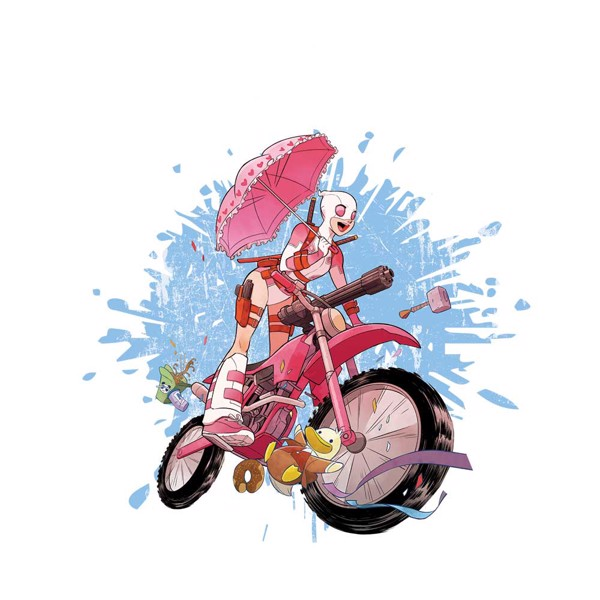 Marvel - Gwenpool Bike T-Shirt - M - Packshot 2