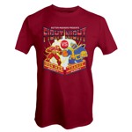 Marvel - Marvel 80th Anniversary - Marvel Fight Night Red T-Shirt - Packshot 1