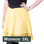 Star Trek - Command TOS Uniform Women's Skirt - Yellow - Size: 3XL - Packshot 1