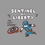Marvel - Captain America - Liberty T-Shirt - Packshot 2