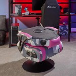 X-Rocker Geo-Camo Neon Peds - Pink Camo Gaming Chair - Packshot 5