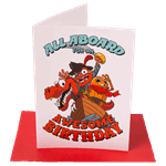 All Aboard For An Awesome Birthday Greeting Card - Packshot 1