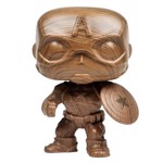 Marvel - Captain America Wood Like Finish Pop! Vinyl Figure - Packshot 1