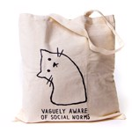 Vaguely Aware of Social Norms Canvas Tote Bag - Packshot 1