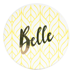 Disney - Beauty and The Beast - Belle Gold Pinache Coasters 4 Pack - Packshot 5