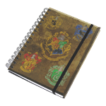 Harry Potter - House Crests A5 Notebook - Packshot 1