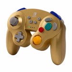 Nintendo Switch PowerA Wireless Gamecube Controller - Gold - Packshot 3