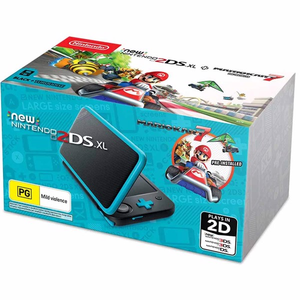Nintendo 2DS XL Blue & Black Console + 1 Game - Packshot 1
