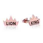 The Lion King - Lion King Crown Rose Gold Stud Earrings - Packshot 1