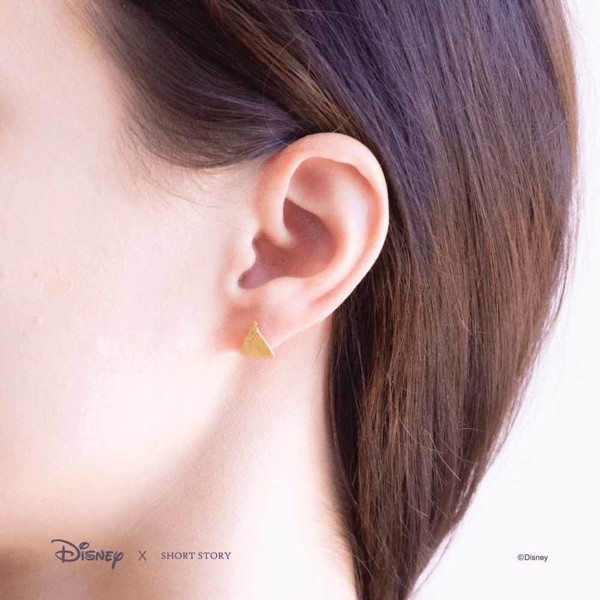 Disney - Cinderella & Glass Slipper Short Story Gold Stud Earrings - Packshot 4