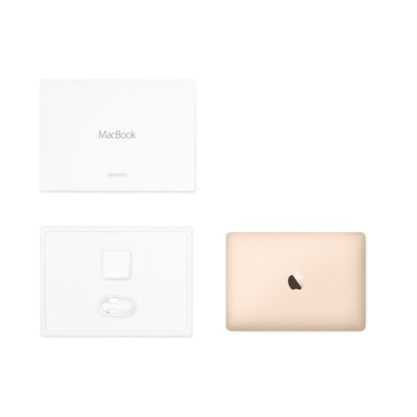 "Apple 12"" MacBook 1.3GHz Dual-core Intel m7 - Gold (Apple Certified Refurbished) - Packshot 6"