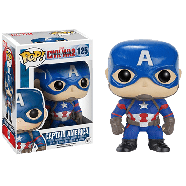 Marvel - Captain America: Civil War - Captain America Pop! Vinyl Figure - Packshot 1
