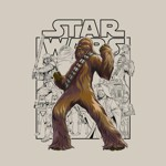 Star Wars - Chewbacca Comic Art T-Shirt - Packshot 2