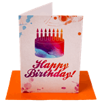 Happy Birthday Cake Greeting Card - Packshot 1