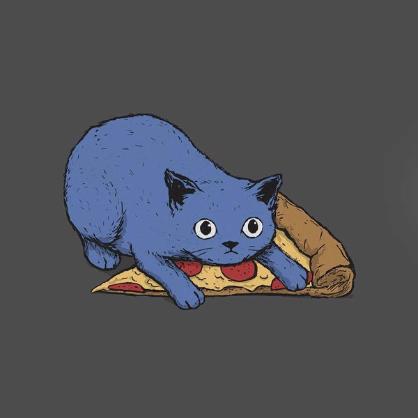 Pizza Cat T-Shirt - XS - Packshot 2