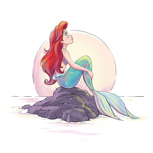 Disney - The Little Mermaid - Ariel Watercolour T-Shirt - Packshot 2