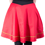Star Trek - Engineering TOS Uniform Women's Skirt - Red - Size: 5XL - Packshot 2
