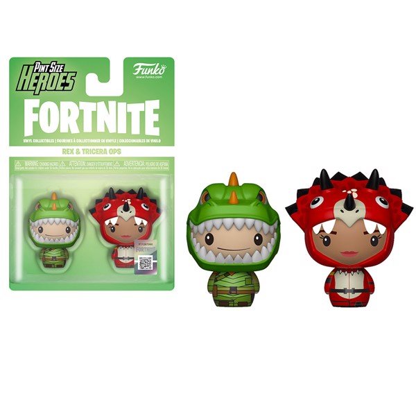 Fortnite - Rex & Tricera Ops Pint-Sized Heroes 2-Pack Figure - Packshot 1