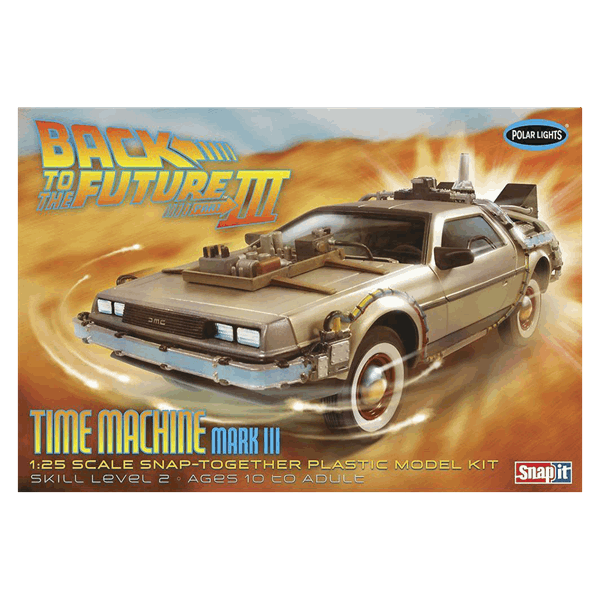 Back to the Future - Delorean (BTTF III) 1/25 Scale Snap Together Model Kit - Packshot 1