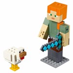Minecraft - LEGO Alex BigFig with Chicken - Packshot 3