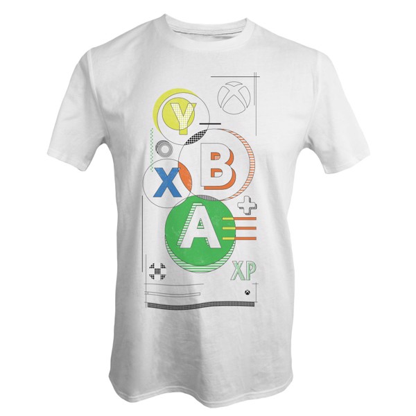 Xbox Buttons White T-Shirt - M - Packshot 1