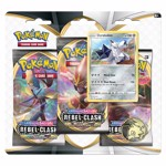 Pokemon - TCG - Sword & Shield: Rebel Clash Three Booster Blister - Packshot 1
