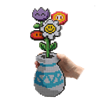 8-Bit Flower Bouquet - Packshot 1