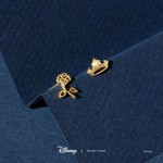 Disney - Sleeping Beauty - Rose & Crown Short Story Gold Stud Earrings - Packshot 2