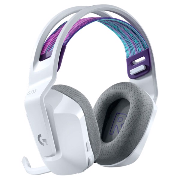 Logitech G733 Lightspeed Wireless RGB Gaming Headset - White - Packshot 3