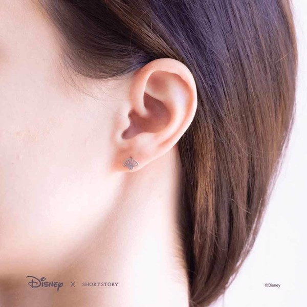 Disney - Mulan - Fan & Sword Short Story Silver Stud Earrings - Packshot 4