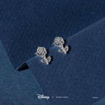 Disney - Beauty and the Beast - Rose Short Story Silver Stud Earring - Packshot 2