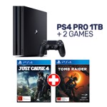 PlayStation 4 Pro 1TB Console + 2 Games - Packshot 1
