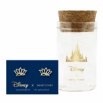 Disney - Aladdin - Jasmine Lotus Short Story Gold Stud Earrings - Packshot 1