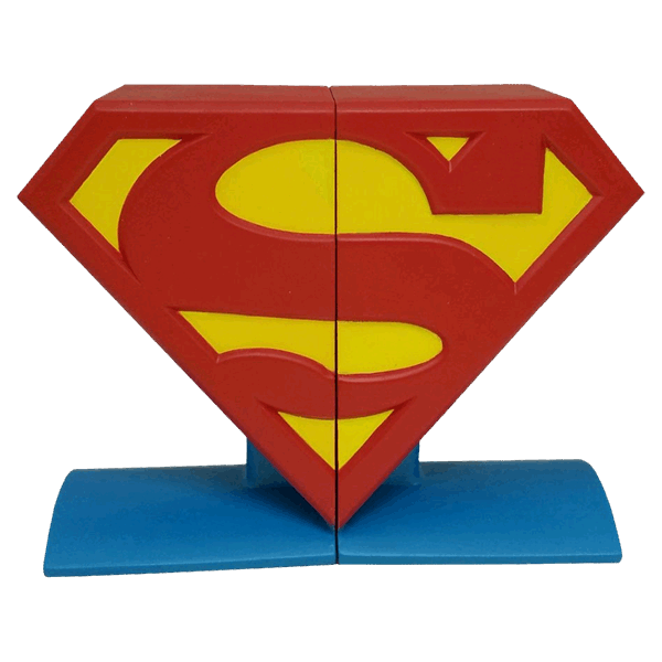 DC Comics - Superman Logo Bookends Statue - Packshot 1