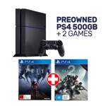 Preowned PlayStation 4 500GB Console + 2 Games - Packshot 1