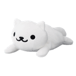 "Neko Atsume - Snowball 8"" Funya Plush - Packshot 1"