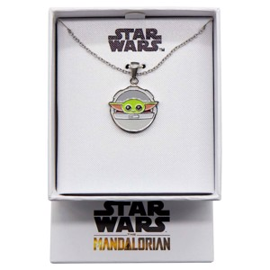 Star Wars - The Mandalorian - The Child In Carriage Enamel Necklace - Clothing