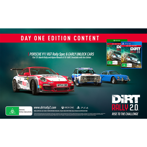 Dirt Rally 2.0 Day One Edition - Packshot 2